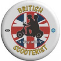 British Scooterists Pin Badge (Design 1)
