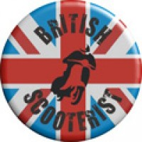 British Scooterists Pin Badge (Design 2)