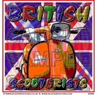 British Scooterists Patch