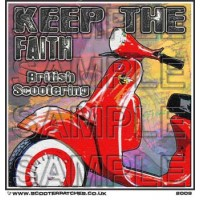 Keep The Faith - British Scootering Patch