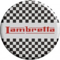 Lambretta Chequers Pin Badge