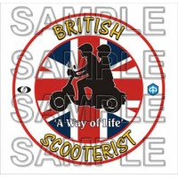 British Scooterists (Limited Edition) Patch