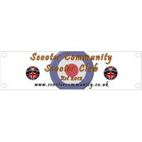 Scooter Community SC Legshield Banner