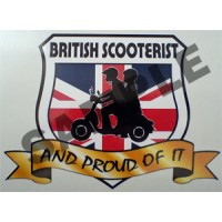 British Scooterist...and Proud of it Shield